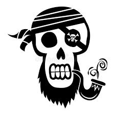 pirate skull and crossbones stock vector illustration of horror