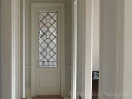 glass doors houston stained and leaded glass door panel in simple classic style