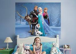 frozen mural wall decal shop fathead for disney frozen decor frozen fathead wall mural