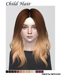 childs hairstyles sims 4 lana cc finds kids hair fc ts4 hair kids cf pinterest
