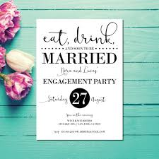 eat drink and be married invitations engagement invitations engagement party invite eat drink