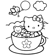 coloriage hello kitty et pucca a imprimer