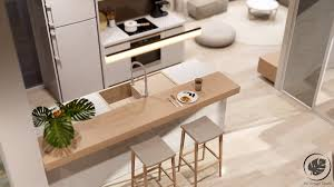 sitting area kitchen counters decor luxurious and simple single