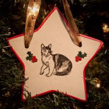 cat ornaments 4 paws pottery