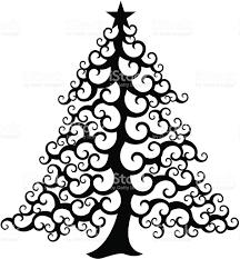 swirly christmas tree stock vector art 165080752 istock
