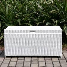 Fake Wicker Patio Furniture - outdoor resin wicker storage bench