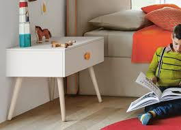 table for children s room battistella woody bedside table with legs childrens bedroom furniture