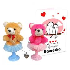 valentines gifts for her gift combo for lover 2 teddy 1 locket