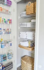 Linen Cabinet Glass Doors by Top 25 Best Linen Storage Ideas On Pinterest Organize A Linen