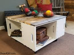 diy home decor easy coffee table with storage diva of diy