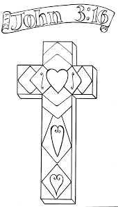 spring flowers on a cross easter christian cross themed coloring