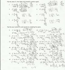 completing the square worksheets free worksheets library