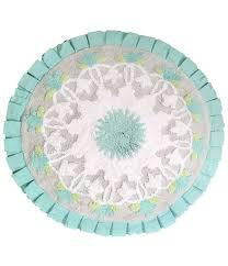 Circular Bathroom Rugs by Dena Home Camden Medallion Round Cotton Bath Rug Dillards