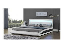 chambre adulte conforama magnifique lit vegas blanc led 160x200cm sbrled 006 160 wh vente