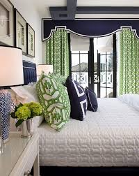 Navy And Green Curtains 15 Colorful Master Bedrooms Green Bedrooms Bedrooms And Navy