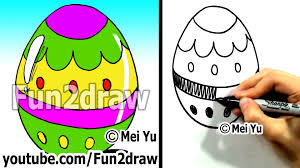Decorate Easter Eggs Youtube by How To Draw A Cartoon Easter Egg How To Draw Easy Cartoons