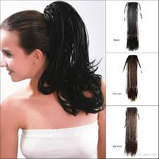clip on ponytail braiding hair drawstring micro braids ponytail hair
