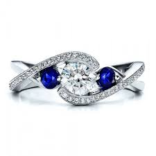 simple sapphire engagement rings twisted band engagement rings durham