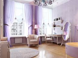 luxury master bedroom with curtain purple color interior like
