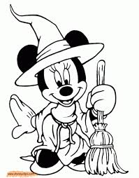 minnie mouse halloween coloring pages www kanjireactor com