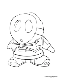 shy guy mario coloring print coloring pages