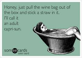 Capri Sun Meme - honey just pull the wine bag out of the box and stick a straw in it