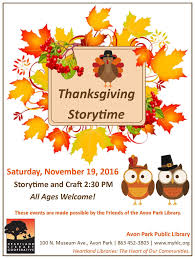 avon park library special thanksgiving storytime heartland