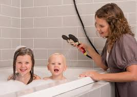 the kids will be looking forward to shower time all day long with