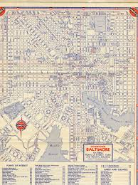 Baltimore City Map 1946 Baltimore And 1956 Hawaii Maps U2013 On The Road