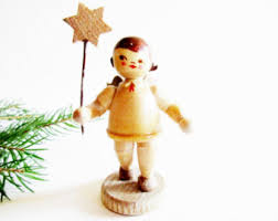 German Home Decor German Wood Angel Etsy