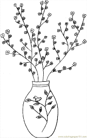 Japanese Flower Vases Vase Coloring Pages Getcoloringpages Com