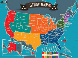Usa Geography Map Games by Test Your U S Trivia With Geography Drive Arcade Spinlight Studio
