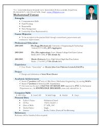 Computer Engineer Resume Sample Mechanical Engineer Resume Format Doc Resume For Your Job