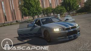 nissan skyline r34 paul walker video