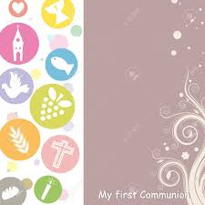 Holy Communion Invitation Cards First Communion Invitation Card Royalty Free Cliparts Vectors