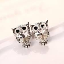 owl stud earrings owl stud earring jewelux co