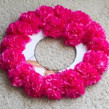 my name is snickerdoodle as promised flower wreath tutorial