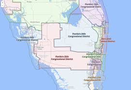 Florida Congressional Districts Map by Support Science