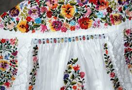 traditional mexican wedding dress lavish embroidery covers a traditional mexican wedding dress