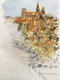 100 best urban sketchers images on pinterest draw urban