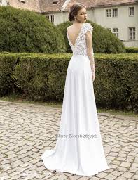 aliexpress com buy u0026 open backless lace wedding dress