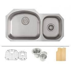 Stainless Steel Undermount Kitchen Sink by Ariel Pearl 29 Inch Stainless Steel Undermount Double Bowl 60 40