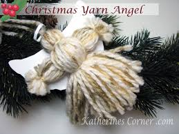 how to make a christmas yarn angel crafts and party ideas