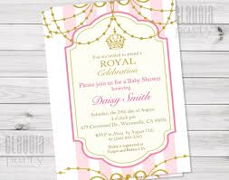 pink and gold baby shower invitations royal princess invitation pink and gold vintage invite