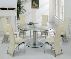 Large Glass Dining Tables Large Round Glass Dining Table And Chairs 140cm 550 00 With Free