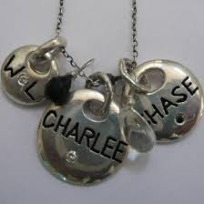Engraved Charms Engraved Charms With Stones On Chain Laurel And Bleau