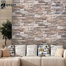 aliexpress com buy vinyl 3d stone wall paper roll brick wall