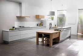 cuisine blanc laqué cuisine bois et blanche clair with cuisine bois et blanche