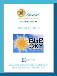 window repair grand rapids award window cleaning acquires grand rapids based blue sky window