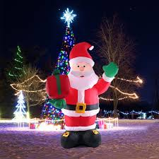 Inflatable Christmas Decorations Outdoor Cheap - aliexpress com buy 2 4m tall inflatable christmas santa claus